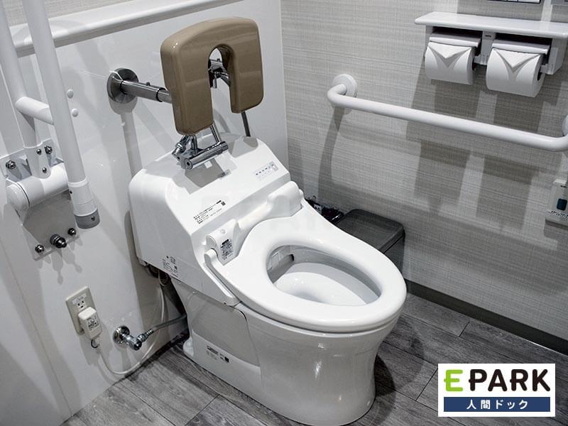 清潔感のある多目的トイレ。