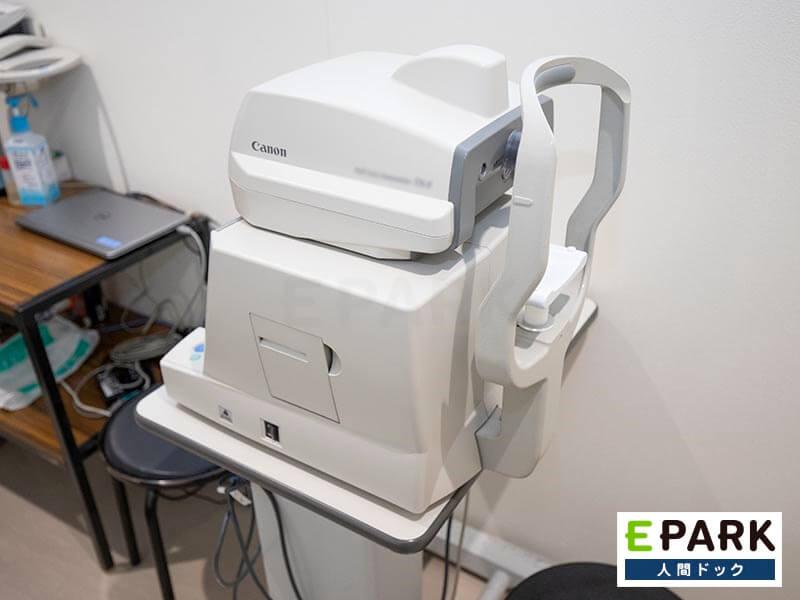 眼底検査機器です。